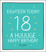 Huuge Happy 18th Birthday Card Happy Jackson - Pigment Productions