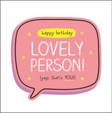 Lovely Person  Birthday Card Happy Jackson - Pigment Productions