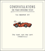 You Smashed it Driving Test Greeting Card Etched - Pigment Productions