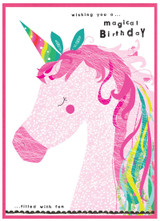 Unicorn Kids Birthday Card - Cinnamon Aitch