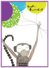 Monkey Kids Birthday Card - Cinnamon Aitch