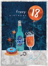 18th Birthday Card for male - Cinnamon Aitch