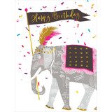 Circus elephant Birthday Card - Real & Exciting Designs