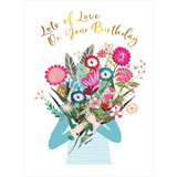 Birthday Bunch of Flowers Birthday Card - Real & Exciting Designs