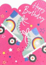 Roller Boots Birthday Card - Laura Darrington