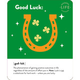 Good Luck Horseshoe Greeting Card - Mint Publishing