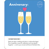 Anniversary Toast Quirky Occasion Card - Mint Publishing