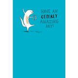 Amazing Birthday Card Otter -  Mint Publishing