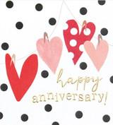 Anniversary Hearts Card - Caroline Gardner