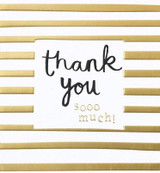 Thank you Stripes greeting Card - Caroline Gardner