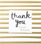 Thank you Stripes greeting Card - Caroline Gardner
