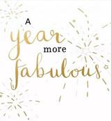 A year More Fabulous greeting card - Caroline Gardner