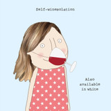 Self Winesolation Greeting Card - Rosie Made a Thing