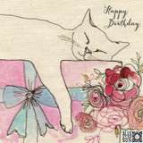 Happy Birthday Cat Card - Blue Eyed Sun