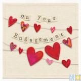 Engagement Card Hearts - Blue Eyed Sun