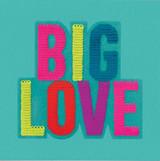 Sequin Big Love  Birthday Card - Redback Cards