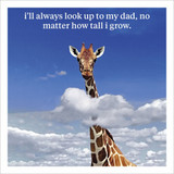How tall I grow Humour  Birthday Card Fathers Day Card - Icon Art Company