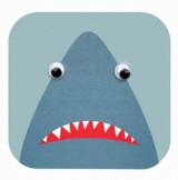 Sherman Shark  Childrens Birthday Card - Stripey Cats