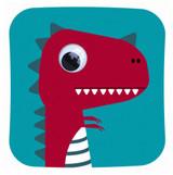 Dino Dex Dinosaur Childrens Birthday Card - Stripey Cats