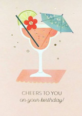 Cheers to you on your Birthday Card - Stormy Knight