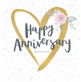 Happy Anniversary With Love Greeting Cards - Rachel Ellen