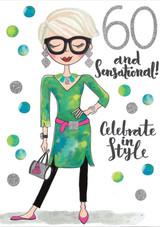 60 and Sensational Birthday Card - Rachel Ellen