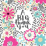 A Big Thank You Greeting Card - Rachel Ellen