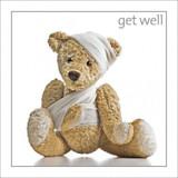 Teddy Get Well  Card - Icon Art Company