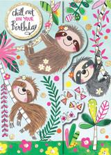 Chill out on Your Birthday 3D Birthday Card - Rachel Ellen