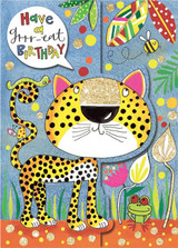 Have a Grrr-eat  Birthday 3D Cat Birthday Card - Rachel Ellen