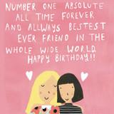 Bestest Ever Friend Birthday Card - Sooshichacha