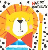 Birthday Lion Childrens Birthday Card - Sooshichacha