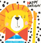 Birthday Lion Childrens Birthday Card - Sooshichacha