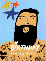 Beardy Bloke Birthday Card - Sooshichacha