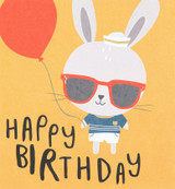 Rabbit Cool Dude Kids Birthday Card - Caroline Gardner