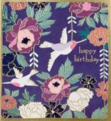 Lovely Birds Kimono Greeting Card - Caroline Gardner