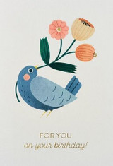 For you Birthday Card Blue Bird - Stormy Knight