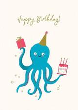 Octoparty Birthday Card - Stormy Knight