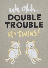 Double Trouble Twins Greeting Card - Stormy Knight