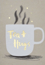 Tea & Hugs Greeting Card - Stormy Knight
