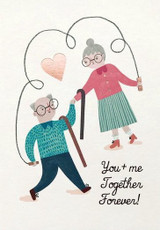 Together Forever Anniversay Greeting Card - Stormy Knight
