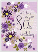 80th Birthday Card - Cinnamon Aitch