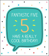 Fantastic 5  Birthday Card Happy Jackson - Pigment Productions