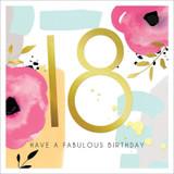 18th Birthday Greeting Card - Black Olive