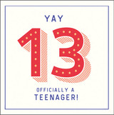 Official Teenager Birthday Card Happy Jackson - Pigment Productions