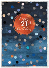 21st Birthday Card with spots for Male - Cinnamon Aitch