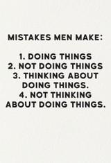 Mistakes Men Make  Birthday Card - Redback Cards