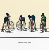 Spinning Class 1890 by Wulffmorgenthaler Funny  Greeting Card - Redback Cards