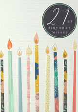 21st Birthday Card Candles - Laura Darrington