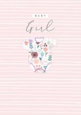 Baby Girl Greeting Card - Laura Darrington